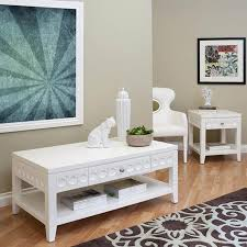 White Coffee Table And End Tables Modern White Coffee Table Sets