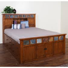Design Sedona Queen Bookcase Storage Bed