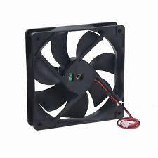 computer case fan. 120x120x25mm 120mm 12cm case fan 12v 80 cfm ball brg 2 wire pc computer cooling