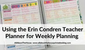 Teacher Weekly Planners Using The Erin Condren Teacher Planner For Weekly Planner 52
