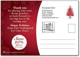 Christmas Eye Chart Postcard Smartpractice Eye Care