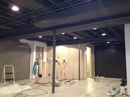 exposed ceiling lighting basement industrial black. basement remodel floor plan with exposed ductwork ceiling optionsunfinished ceilingindustrial lighting industrial black y