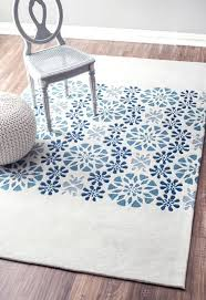 blue trellis patterned rug