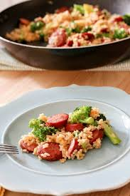 for an easy and quick weeknight meal solution this smoked sausage rice one skillet