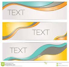 Header Banner Background Templates Stock Vector Illustration Of