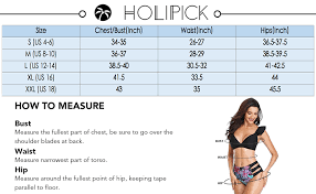 Swimsuit Top Size Chart Holipick Women Two Piece Swimsuit High Neck Halter Floral Printed Tankini Sets