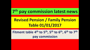 Revised Pension Family Pension Table 01 01 2017