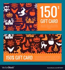 Halloween Gift Cards Halloween Gift Card Or Voucher Templates