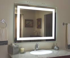 Clever Design Ideas Lighted Wall Mirror Attractive Black Bathroom
