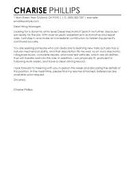 Auto Mechanic Cover Letter Elegant Sample Cover Letters For Entry