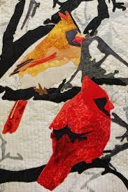 334 best Bird Quilts images on Pinterest | Quilt patterns, Bird ... & Wild Life: Cardinals | Martha Wolfe art quilt Adamdwight.com