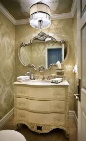 Luxury Stylish Powder Rooms Vanity Decoration. Elegant Powder Room Gold  Nuance Feature Pretty