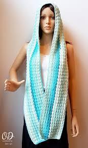 Crochet Hooded Scarf Pattern