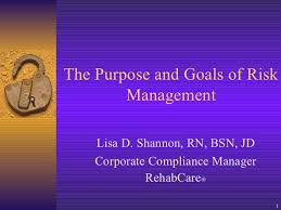 The Purpose And Goals Of Risk Management Lisa Shannon Rn Bsn