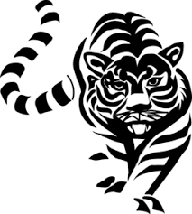tiger black and white drawing. Fine White Tiger Black And White Clip Art For Drawing