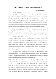 Well, the ipa transcription in any dictionary will help us. Pdf Indian English Phonology