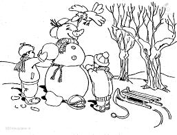 Kleurplaat Sneeuwpop Kleurplaat Ljpg
