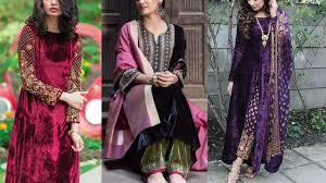 Pink Velvet Suit Design Latest Velvet Kurti Designs Velvet Suit Designs Latest Velvet Salwar Suit