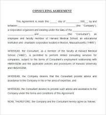 Sample Consultant Agreement Template – Francistan Template