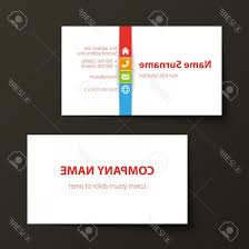 Namecard Format Photostock Vector Modern Simple Business Card Template