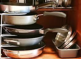 Kitchen Storage For Pots And Pans Kitchen Fabulous Pots And Pans Rack Design For Kitchen Decoration