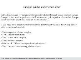 waiter resume sample resume for a waiter resume sample for waiter position luxury cover