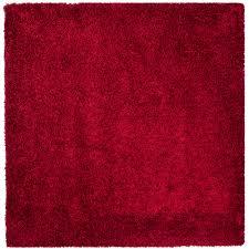 safavieh hand tufted red plush area rugs