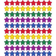 Pad Rank Up Chart Stars Multicolor Chart Seals Mni Stickers Set Of 810 Seals