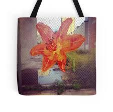 Art Bag Nyc Yarn Art Flower In East Harlem New York City Tote Bags By