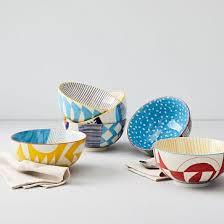 <b>Hand</b>-<b>Painted</b> Pattern Pop Bowls - <b>Large</b>