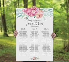 Canvas Print Seating Chart Seating Chart Wedding