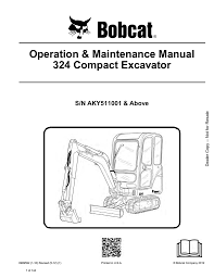 Bobcat Excavator 324 Operation Manual Manualzz Com