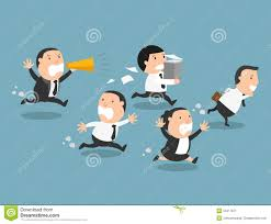 bad boss stock photos image  the employees running away from their bad boss stock image