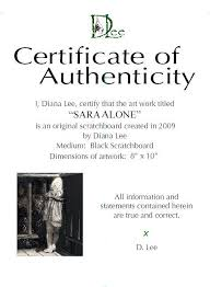 How To Create A Certificate Of Authenticity Wetcanvas
