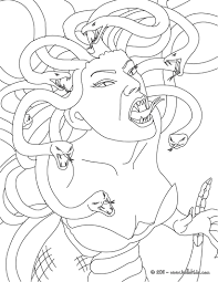 Small Picture Medusa the gorgon with snake hair coloring pages Hellokidscom