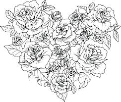 Rose Coloring Pages Printable Rose Coloring Page Free Printable Rose