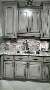 Pretty. Valspar Aspen Gray, glazed in black. Gorgeous!!! Work of. Grey  CabinetsBlack ...