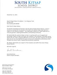 Understandable Thank You Letter After Receiving Donation With