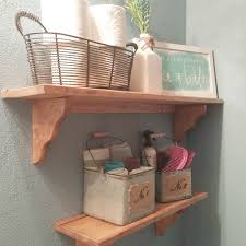 small wooden shelves bathroom with wonderful inspirational