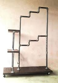 wardrobes custom made wood and galvanized pipe coat and clothing racks pipe garment rack