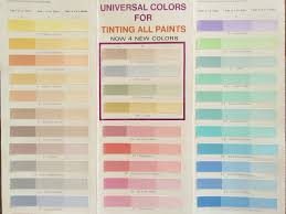 Sheffield Color Chart Tints All Universal Colorant 1 5oz Tube