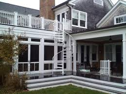 outdoor spiral stairs exterior staircases in ct nyc acadia