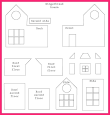Gingerbread Castle Template Free Gingerbread House Templates