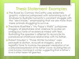 ap seminar comparison essay topics writing an effective thesis  thesis statement examples  the road by cormac mccarthy uses extremely graphic violence juxtaposed astonishing