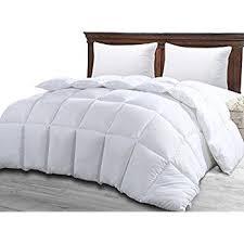 Amazon.com: Queen Comforter Duvet Insert White - Quilted Comforter ... & Queen Comforter Duvet Insert White - Quilted Comforter with Corner Tabs -  Hypoallergenic, Plush Siliconized Adamdwight.com