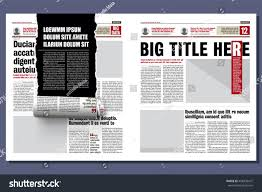 Newspaper Story Template Rolled Ribbon Newspaper Revealing Hidden Story Stock Vector Royalty