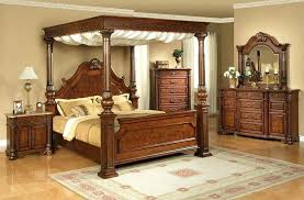 King Size Wooden Canopy Bed Frame White Metal Full Image Of Queen ...