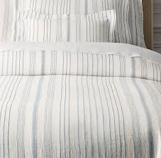 jacquard stripe linen duvet cover with regard to striped decor 2