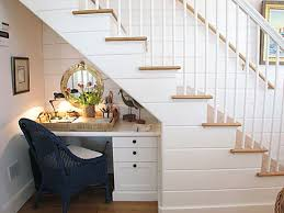 Taking advantage of the space under the stairs to create a corner home  study is an excellent choice. Another benefit you can take from the hole  under the ...