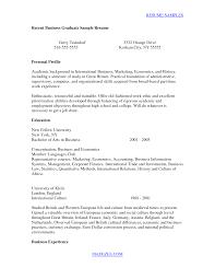 Recent Graduate Resume Template 79 Images College Grads How